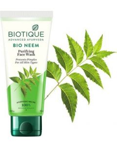 BIOTIQUE BIO NEEM PURIFYING FACE WASH PREVENTS PIMPLES FOR ALL SKIN TYPES
