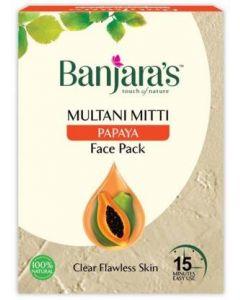BANJARA`S'S 15 MINUTES FACE PACK, MULTANI AND PAPAYA, 100G