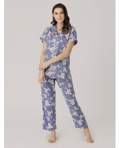 PRIVATE LIVES RAYON FULL NIGHT SUIT - (NS0631)