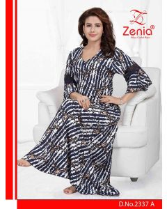 Zenia RAYON 3/4th Sleeves FULL NIGHTY - (2337)