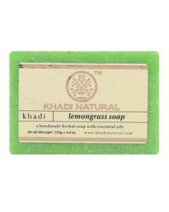 KHADI NATURAL AYURVEDIC LEMONGRASS SOAP, 125 G