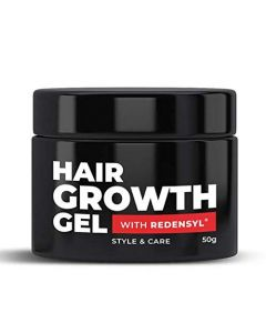 BEARDO HAIR GROWTH GEL FOR MEN, 50 GM | FOR HAIR GROWTH AND STYLING | REDENSYL | MADE IN INDIA