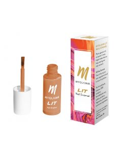 MYGLAMM LIT NAIL PAINT - TIME OUT (NEON ORANGE SHADE), 7ML, CRUELTY-FREE & LONG LASTING