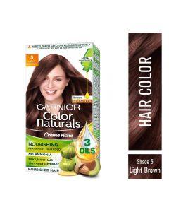 Garnier Color Naturals Crème hair color, Shade 5 Light Brown
