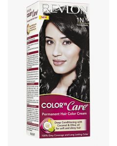 REVLON COLOR N CARE PERMANENT HAIR COLOR CREAM FOR WOMEN, NATURAL BLACK, 1 PACK