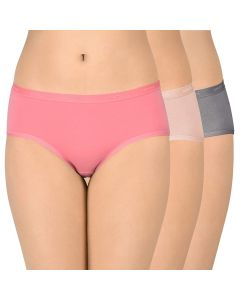 AMANTE Cotton Hipsters Outer Elastic PANTY - PPK43001