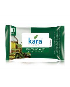KARA FACE TISSUE, TEA TREE & NEEM, 10 PIECES