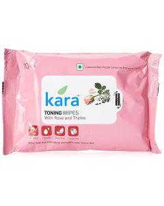 KARA TONING FACE TISSUE, ROSE AND THYME, 10 PULLS