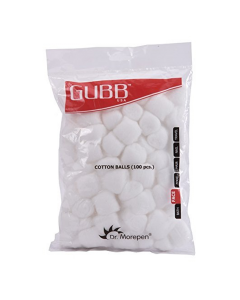 GUBB USA COTTON BALLS WHITE 100 PIECES FOR FACE CLEANSING & MAKEUP REMOVAL