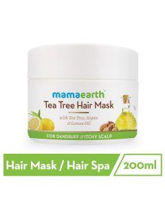 Mama Earth Anti Dandruff Tea Tree Hair Mask with Tea Tree and Lemon Oil For Danrduff Control and Itch Treatement, 200ml