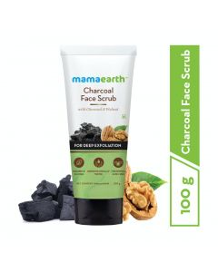 Mama Earth Charcoal Face Scrub For Oily Skin & Normal Skin, with Charcoal & Walnut for Deep Exfoliation – 100g