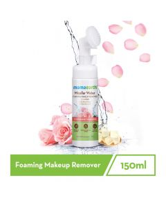 Mama Earth Micellar water foaming Face wash with rose water and glycolic acid for daily Face wash and make up cleansing - 150ml