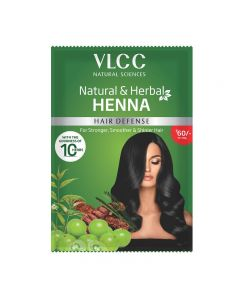 VLCC NATURAL & HERBAL HENNA HAIR DEFENSE FOR STRONGER SMOOTHER & SHINIER HAIR 120GM