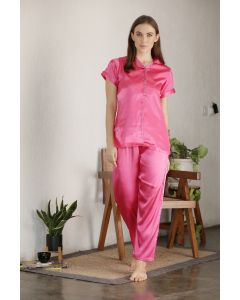 PRIVATE LIVES SATIN FULL NIGHT SUIT - (NS0651)